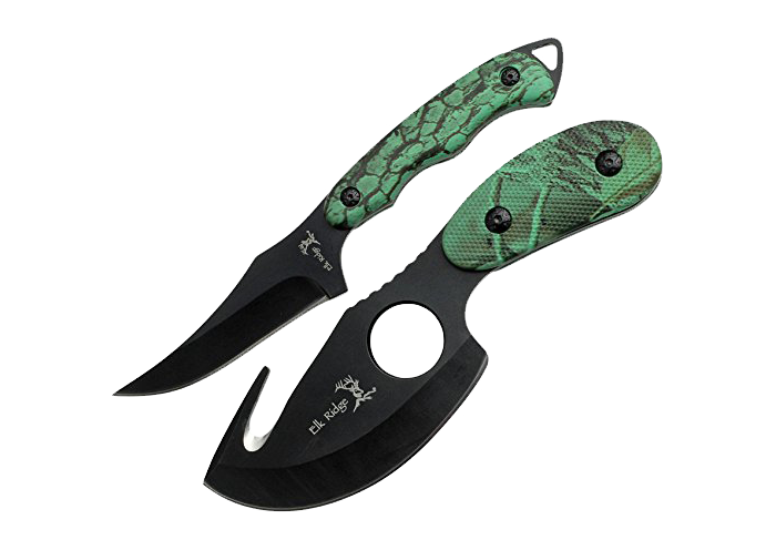 Elk Ridge Hunting Knives Set with a Gutting Knife