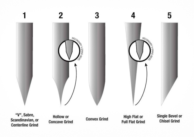 Hunting Knives: Blade Grinds