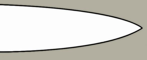 Convex grind knife blade