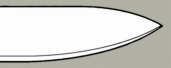 Drop point blade design