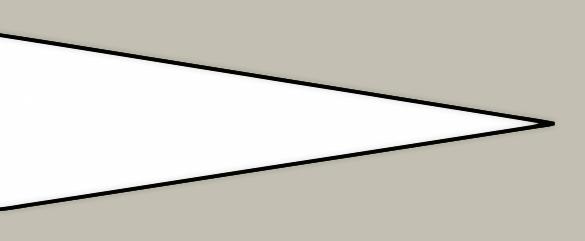 Flat grind knife blade