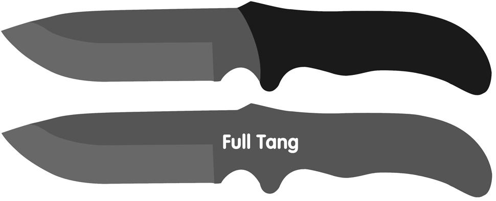 Full tang fixed knives