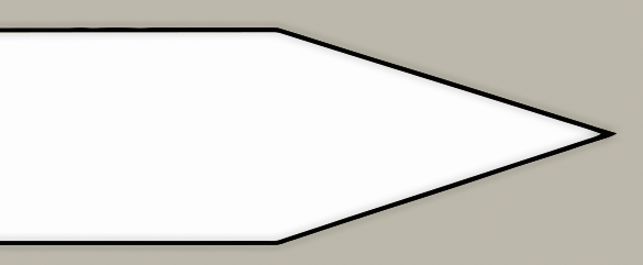 Sabre grind knife blade