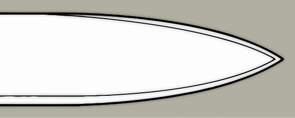Spear point blade design