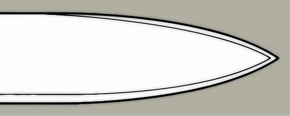 Spear point blade design