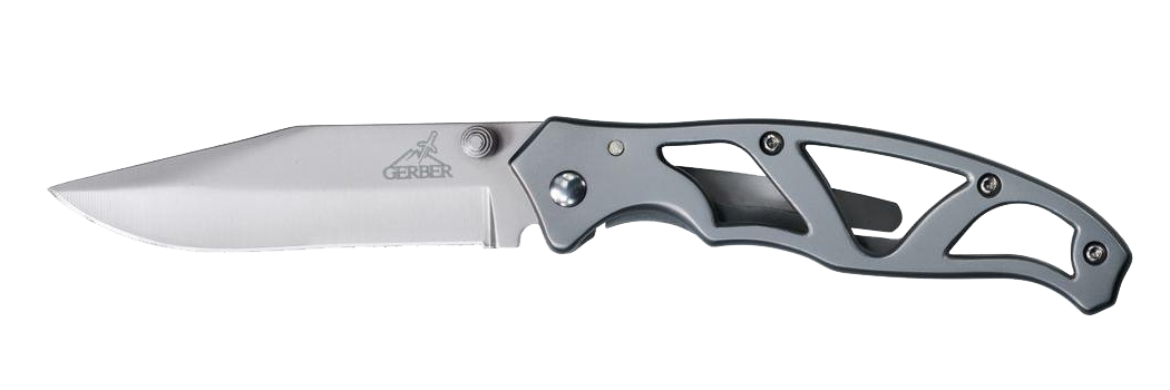 Stainless steel handle folding knife