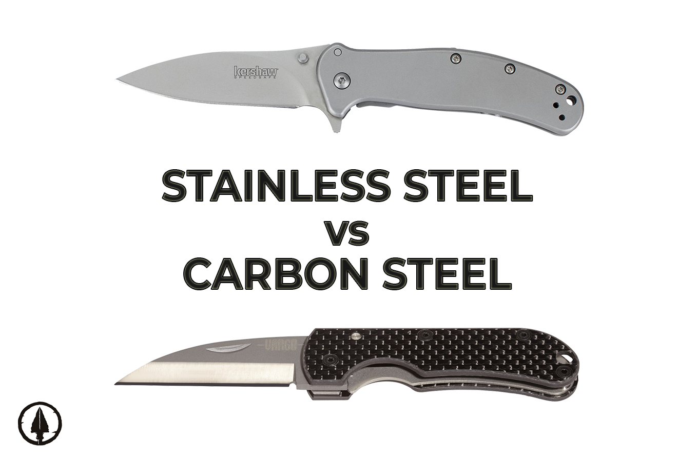 Stainless steel vs. carbon steel folding knives