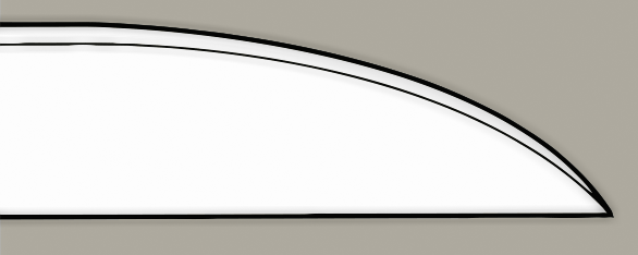 Straight-back blade design