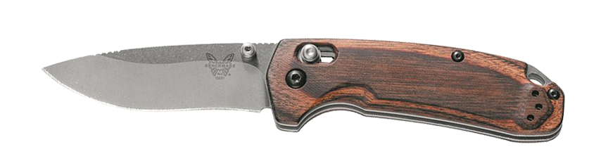 Wooden handle folding knife
