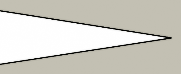 Needle point blade design