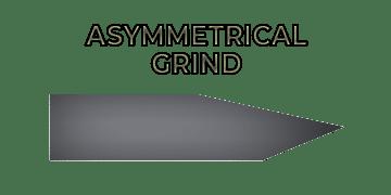 Asymmetrical grind