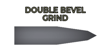 Double bevel (a.k.a compound bevel) grind