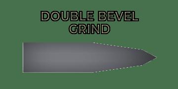 Double bevel (a.k.a compound bevel) grind