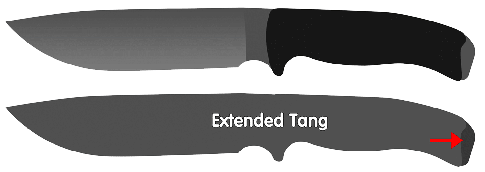 Extended Knife Tang