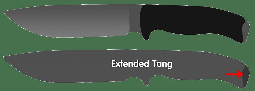 Extended Knife Tang