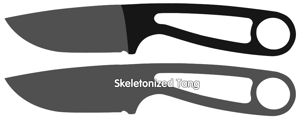 Skeletonized Knife Tang