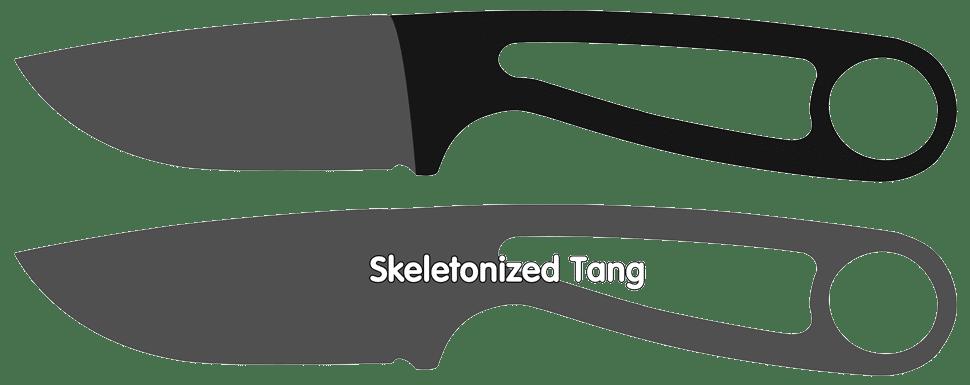 Skeletonized Knife Tang